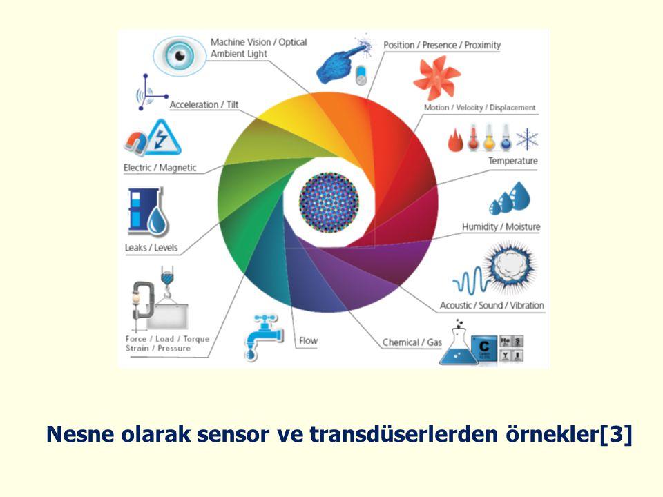 Nesne olarak sensor ve transdüserlerden örnekler[3]